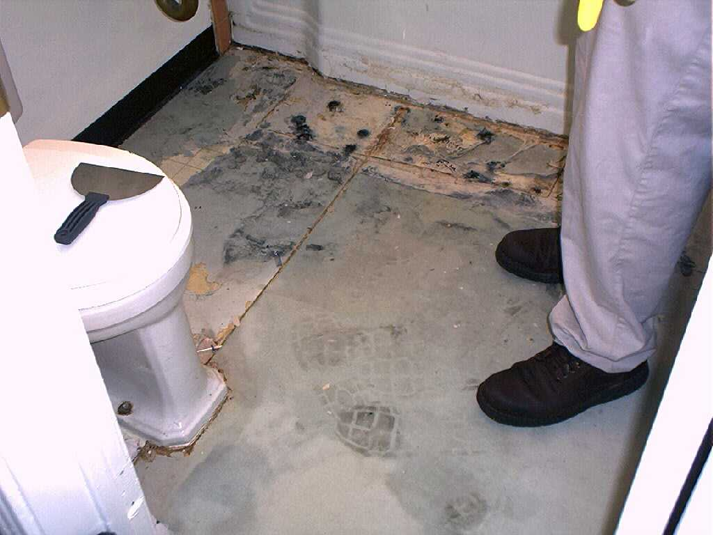 Fixing The Bathroom Floor